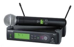 noleggio radio microfono ULX P Shure Sm 58